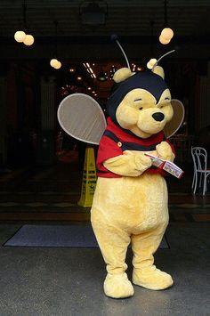 Winnie the Pooh dressed for Halloween @ Disneyland Paris...I used to have a stuffed animal Pooh dressed like a bee!