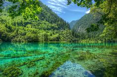 Jiuzhaigou Valley And National Park Located In Northern Sichuan Province Of Southwestern China