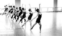 Inside the Studio: Artists of the Ballet in rehearsal for Swan Lake.