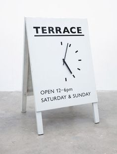 Terrace-Sandwich-Board or any other type of business.very creative.My gallery needs a sidewalk sign. Wayfinding Signage, Signage Design, Cafe Design, Store Design, Web Design, Zoo Signage, Cafe Signage, Retail Signage, Design Ideas