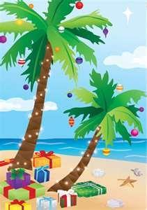 Tropical Christmas flag