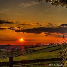 A beautiful sunset over the Surrey hills #sunset #landscape #Surrey #SurreyHills #England #uk #countryside #BritishCountryside #landscapephotography