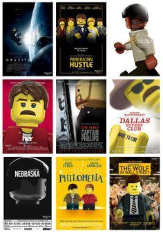 OS POSTERS DO OSCAR 2014 EM LEGO