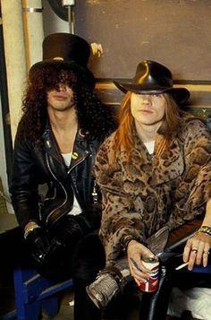 Slash and Axl