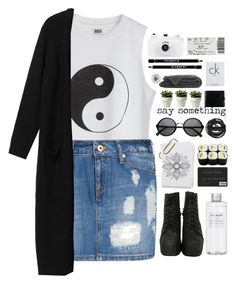 """""""when all that's left is rearranged"""" by cbear99 ❤ liked on Polyvore featuring moda, MANGO, Monki, Jeffrey Campbell, Muji, Urbanears, Givenchy e Calvin Klein"""