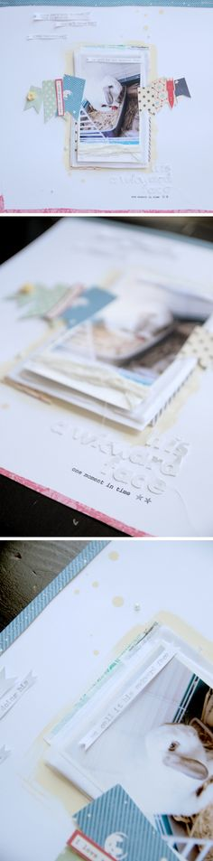 scrapbooking LO , tutorial