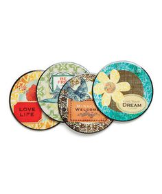 Take a look at this 'Live Your Dream' Coaster Set by DEMDACO on #zulily today!