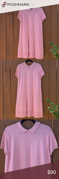 191afabeca New Lacoste Silk Cotton Short Sleeve Polo Dress New Lacoste silk cotton  blend short sleeve polo