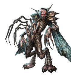Katpaskir Demon - Pathfinder PFRPG DND D&D 3.5 5th ed d20 fantasy