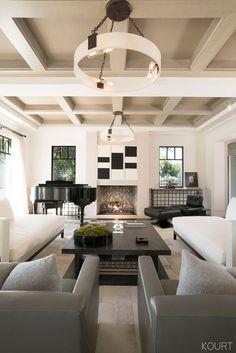 Peek Inside Kourtney Kardashian's Sleek Living Room—and Copy the Look