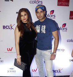 Vivian Dsena and Vahbbiz Dorabjee at anthem launch of BCL team Mumbai Tigers. #Bollywood #Fashion #Style #Beauty #Hot #Curvy