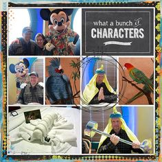 Disney Cruise Scrapbook Layout - Character Meals