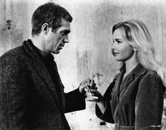 "1963– Steve McQueen and Tuesday Weld in ""Soldier in the Rain"""
