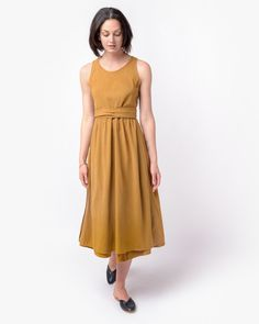 Mohawk - Wrap Dress in Gold - http://www.mohawkgeneralstore.com/products/wrap-dress-in-gold