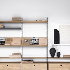 String System Magazine Shelf Wood