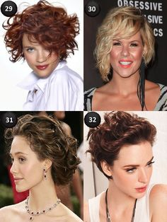 Best Curly Short Hairstyles for Thick Hair ~ I like #29 for me...
