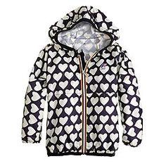 Girls' K-Way® for crewcuts Claude Klassic jacket in heart print