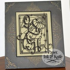 Oh Come Let Us Adore Him - Papercut Template