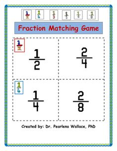 Equivalent Fraction: Compare with Models Plus 28 Fraction Scoot Game Cards Fraction Games, Fraction Activities, Math Activities, Teaching Resources, Teaching Ideas, Equivalent Fractions, Math Fractions, Fraction Word Problems, Primary Maths