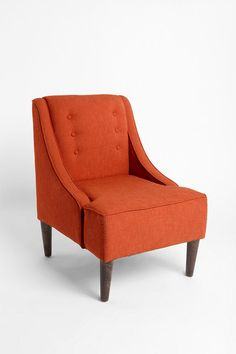 Orange Chair - Can I have 2 chairs different colors with a small checked sofa?  to much mixing of colors I think