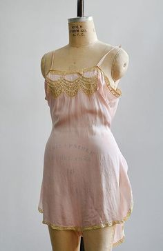 vintage pale rose pink step in Thrift Haul, Silk Crepe, Pink Roses, 1920s, Lace Trim, Thrifting, Bodice, Vintage Fashion, Rompers