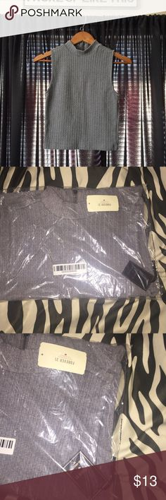 Forever 21 Cable Knit Crop Top Gray cable knit crop top. Still in original packaging with tags. Medium. Forever 21 Tops Crop Tops