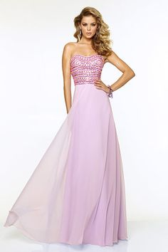 Chiffon Dress with Jeweled Beading by Mori Lee by Madeline Gardner, $397.99, paparazziprom.com   - Seventeen.com