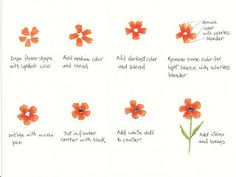 Bloomin' Paper: 'Watercolor' flowers with Copic markers
