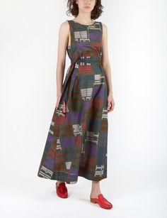 Aldo Dress Long Facade Print
