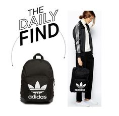 """Daily Find: Adidas Backpack"" by polyvore-editorial ❤ liked on Polyvore featuring adidas Originals and DailyFind"