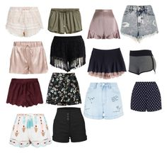 """""""my closet wishes #1 of shorts"""" by iwillbemeandyouwillbeyou on Polyvore featuring New Look, Chicwish, Miss Selfridge, Abercrombie & Fitch, LE3NO, Zimmermann, Zizzi and River Island"""