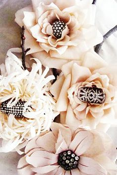 thought these were flowers with rings sitting in them as a display them...I'm going to try that!