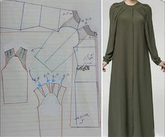 Plus Size Sewing Patterns, Dress Sewing Patterns, Dress With Cardigan, Cape Dress, Crochet Shawl Diagram, Abaya Pattern, Sewing Sleeves, Baby Frocks Designs, Frock Design