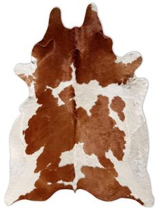 Brown & White Cowhide Rug
