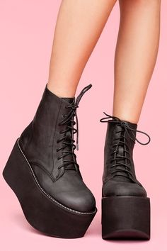RiotBoot by JeffreyCampbell @NastyGal $188.00--I want to say Now you too can have boots like Abby! LOL