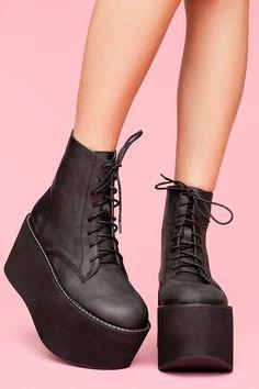 Jeffrey Campbell Shoes Nasty Gal X Jeffrey Campbell Riot Platform Boots Color: Black Size: 5 - Woman Shoes Women's Shoes, Mode Shoes, Zapatos Shoes, Me Too Shoes, Shoe Boots, Shoe Bag, Footwear Shoes, Neon Shoes, Punk Shoes