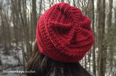 Slouch #crochet hats are all the rage! Top your look off with the Marion Slouch hat by #LittleMonkeysCrochet http://bit.ly/1L1i5J2