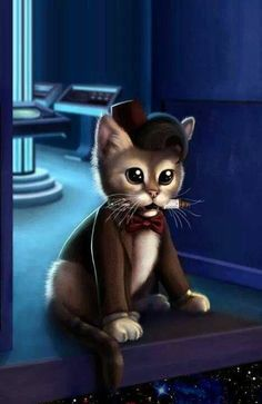 Matt Smith, Dr. Who as a cat. Really does it get any cuter?: