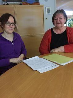 Katja ja Maija asukaslähtöisen työvuorosuunniittelun parissa