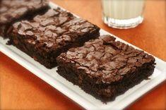 Hershey Brownies Recipe Desserts with flour, cocoa, baking powder, salt, butter, sugar, vanilla, large eggs, walnuts
