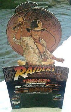 Indiana Jones Standee  (Raiders of the Lost Ark, Original Movie Theater Lobby Cardboard Standup Display)
