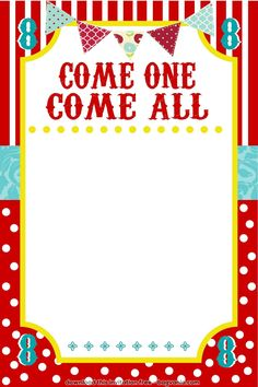 free carnival birthday invitations template Google Search