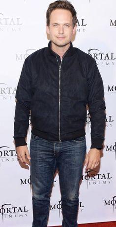 Patrick J Adams, Bomber Jacket, Jackets, Fashion, Down Jackets, Moda, Fashion Styles, Fashion Illustrations, Bomber Jackets