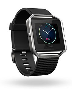 Fitbit Blaze Smart Fitness Watch, Black, Silver, Large - http://www.exercisejoy.com/fitbit-blaze-smart-fitness-watch-black-silver-large/fitness/