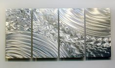 Abstract Modern Metal Wall Art Hangint Silver by statements2000
