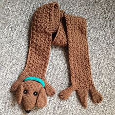 Ravelry: Wiener Dog Crochet Scarf pattern by Bunch-O-Designs