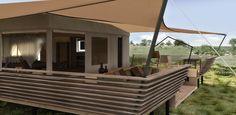 Serengeti Bushtop Camps, Tanzania - Design by Dreimeta, renderings by Raumflug.  ::: temporary hotel, tent, camp, luxury