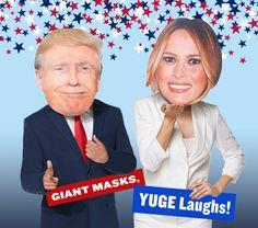 These masks will be a huge hit at any political party! Costume Party Themes, Halloween Party Costumes, Spirit Halloween, High Quality Costumes, Political Party, Masks, Politics, People, People Illustration