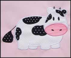 Cow Applique designs 2 sizes by DBembroideryDesigns on Etsy, $4.99