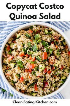 Quinoa Recipes Easy, Quinoa Salad Recipes, Salad Recipes For Dinner, Vegetarian Recipes, Cooking Recipes, Vegetarian Options, Healthy Recipes, Diet Recipes, Clean Eating Salads